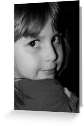 Black & White Portrait Of Young Child by Evita