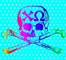 Chi Omega, Skull and Crossbones all Colors by sebmcnulty