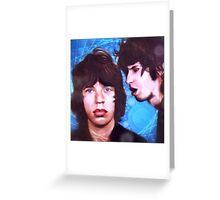 Jagger and Richards  Greeting Card