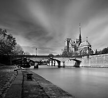 Autumn in Paris 4 - Notre Dame landscape by TheQuietCinema