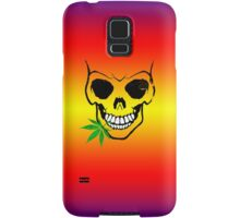 Skull with Weed -  Cool Skull with Pot - T Shirt Stickers Samsung Galaxy Case/Skin