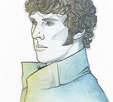 Benedict Cumberbatch [watercolours] by JessicaMariana