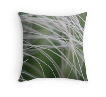 Rainforest Palm Tree Leaf Close Up Throw Pillow