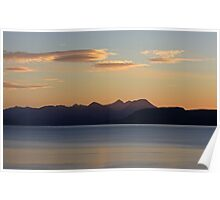 Cuillin Sunset 4 Poster
