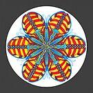 Butterfly Mandala Print w/grey background by TheMandalaLady
