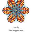 Butterfly Mandala Poster by TheMandalaLady