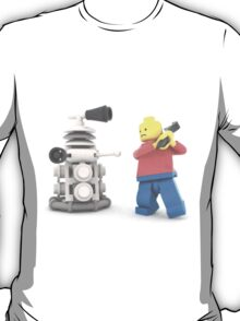 Lego warrior vs Dalek T-Shirt