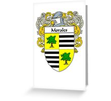 Morales Coat of Arms/Family Crest Greeting Card