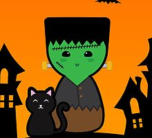 Halloween Cute Frankenstein by arlain