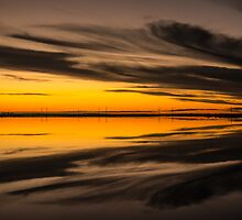 Sunset over the salt plains, Adelaide No. 2 by Maretta Emily Photography
