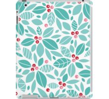 Holly berries and leaves pattern iPad Case/Skin