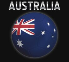 Australia - Australian Flag - Football or Soccer Ball & Text 2 by graphix