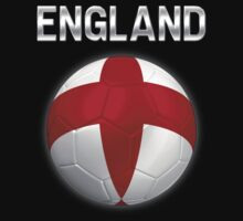 England - English Flag - Football or Soccer Ball & Text 2 by graphix
