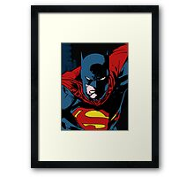 Batman x Clark Kent Framed Print