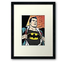Superman x Bruce Wayne Framed Print
