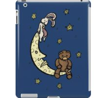 Teddy Bear and Bunny - Caught In The Moonlight iPad Case/Skin