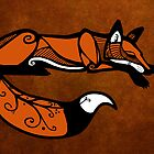 Celtic Fox Greeting Card by agentotter