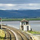 Arnside Signal Box. by Lilian Marshall