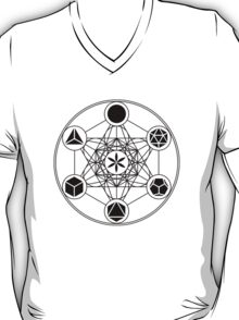 Platonic Solids, Metatrons Cube, Flower of Life T-Shirt