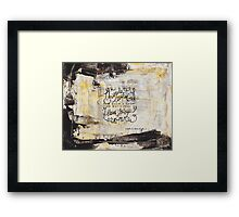 Lost for Words - March 2014 Framed Print
