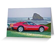 1986 Ferrari 308 GTS I Greeting Card