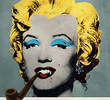 Vampire Marilyn with surreal pipe by filippobassano