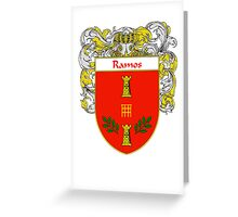 Ramos Coat of Arms/Family Crest Greeting Card