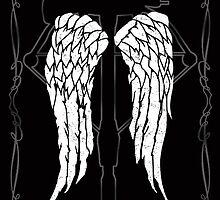 Daryl Dixon wings crossbow by Edward Fetterman