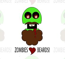 zombies love beards by Onevisualeye