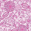 Pink lace flowers pattern by oksancia