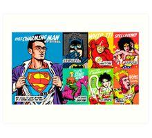 Post-Punk Super Friends Full Set 2 Art Print