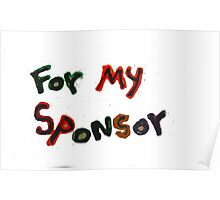 for my sponsor Poster