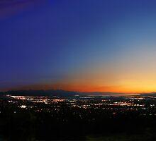 Bountiful Utah Temple - Great Salt Lake Panorama by Ken Fortie