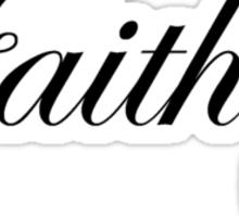 Faith Heart Sticker