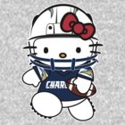 Hello Kitty Loves The San Diego Chargers! by endlessimages
