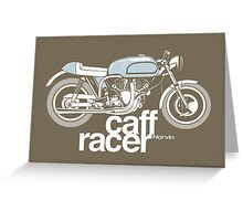 Norvin Caff Racer Greeting Card