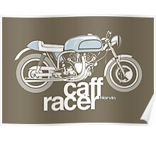 Norvin Caff Racer Poster