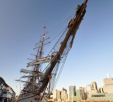 "Tall Ship ""Europa"" & Sydney Skyline, Australia 2013 by muz2142"