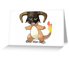 Char Man DA Greeting Card