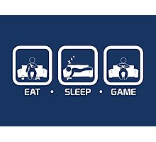 Eat, Sleep, Game (Console Version) Photographic Print