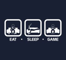Eat, Sleep, Game (Console Version) T-Shirt