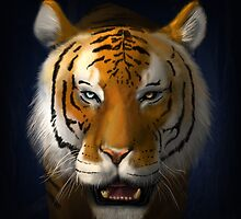 Max Scherzer Tiger, Full by Glenn Martin