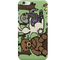 Teddy Bear And Bunny - An Eye For An Eye iPhone Case/Skin