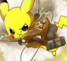 Pikachu! I CHOOSE YOU! ATTACK ON TITAN! Sticker