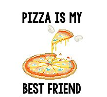 Pizza is my best friend iPhone/iPod Case by Alisha Mumby