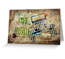 OFF ROAD Grunge Greeting Card