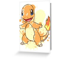 Charmander Splatter Greeting Card