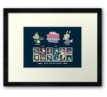 90's Toon Throwdown Framed Print