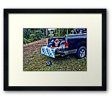 Relaxing  HDR  Framed Print