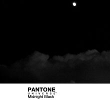 Real Life Pantone: Midnight Black by coffeespoon
